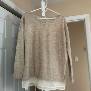 silence and noise long sleeve sweater with detail